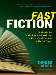 Denise Jaden is a twice-successful NaNoWriMo writer and shares her tips in her book Fast Fiction.